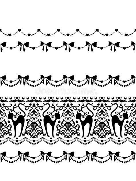 Ornament Pattern Of The Cat, Stock Illustration