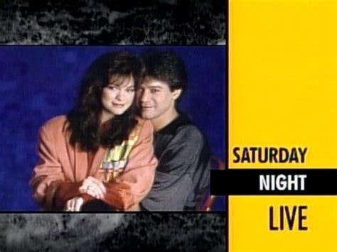 eddie van halen on saturday night live eddie van halen valerie bertinelli in 1987 appearing on