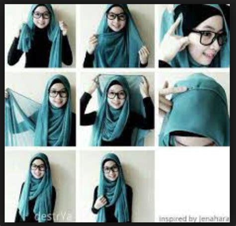 tutorial gaya berhijab gambar tutorial hijab modern casual