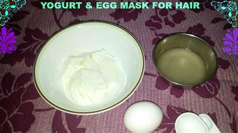 diy egg yogurt mask for damaged hair
