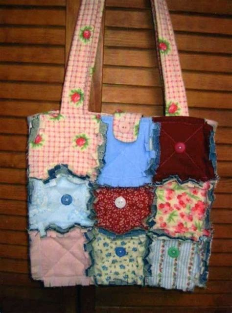 rag tote bag pattern free rag quilt pattern tote bag blue crossbody bag