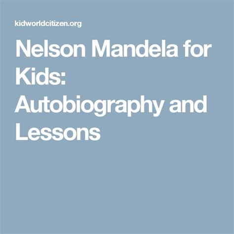 nelson mandela biography for ks2 best 25 autobiographies for kids ideas on pinterest