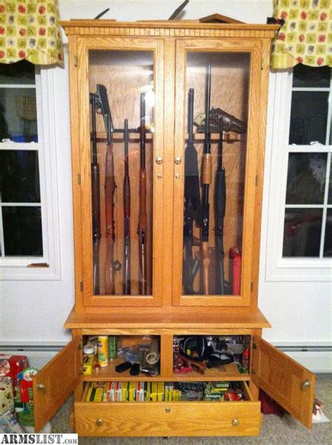 Solid Oak Gun Cabinets For Sale by Armslist For Sale Custom Gun Cabinet Solid Oak