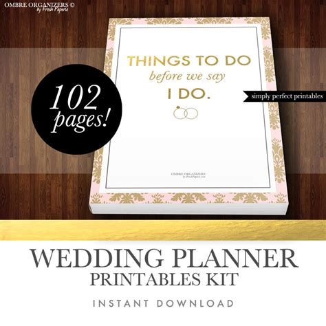 printable wedding notebook organizer 85 wedding planner binder cover template wedding