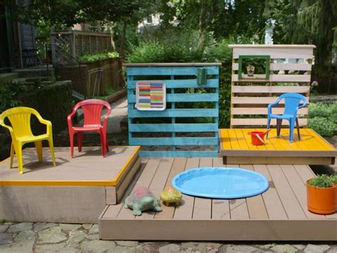 backyard kid pools build a multilevel deck for a kiddie pool how tos diy