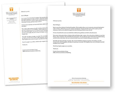 Engineering College Letterhead Using Our Electronic Letterhead Templates Brand Guidelines