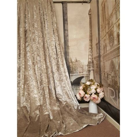 heavy silk curtains stunning heavy chagne crushed velvet 111 quot d 52 quot w