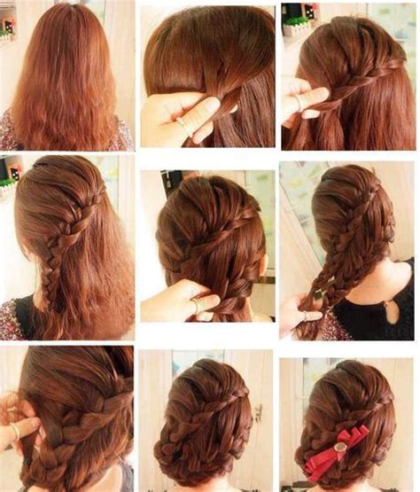 braids updo for hairstep by step different hairstyles step by step tutorials trendy mods com