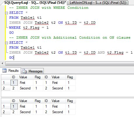 sql server update inner join sql server interesting observation of on clause on left