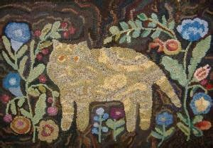 lisanne miller rug hooking cat pattern and cats on
