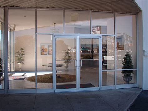 Glass Door Store store front glass flush glaze clip sash and jointed glass mirror glass shower doors