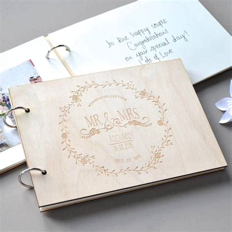 Wedding Guest Book Cover Ideas by Personalised Vintage Wedding Guest Book By Clouds And