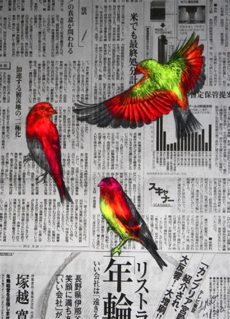acrylic painting newspaper neon animal drawings paintings by louise mcnaught