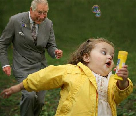 Running Kid Meme - sorry guys prince charles never chased a girl with a pot