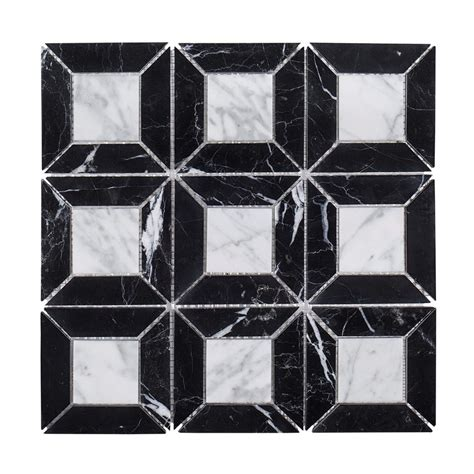 jeff lewis tile jeff lewis doheny 12 in x 12 in x 8 mm marble mosaic