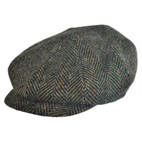 Herringbone Cap city sport caps herringbone donegal tweed wool newsboy cap