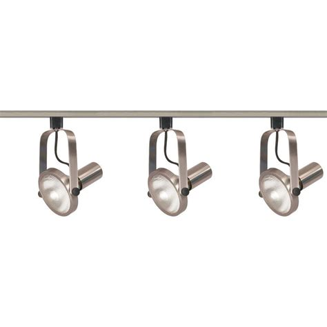 Track Lighting Kits by Glomar 3 Light Par30 Brushed Nickel Gimbal Ring Track