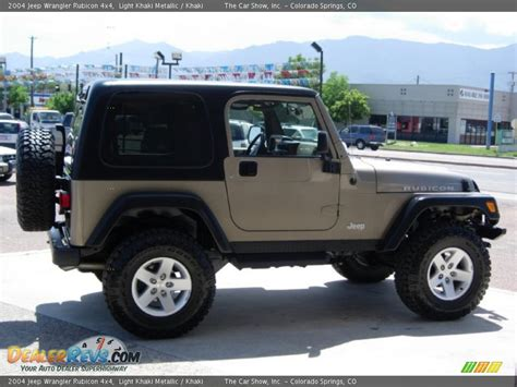 2004 Jeep Wrangler Rubicon 2004 Jeep Wrangler Rubicon 4x4 Light Khaki Metallic