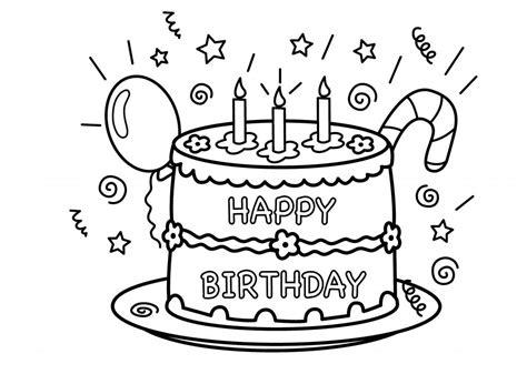birthday cakes simple birthday cake coloring page free printable birthday cake coloring pages for kids