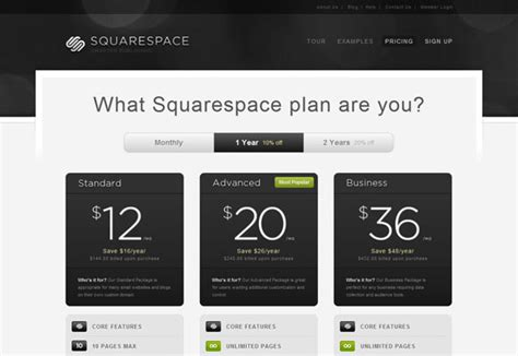 squarespace pricing subscription page ux design pricing pages in web design getting users to sign up