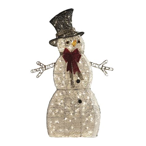 shop holiday living 1 piece 4 ft snowman outdoor christmas