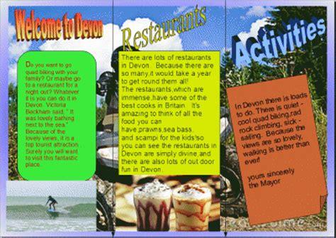 leaflet design ks2 computing showcase whitchurch primary school