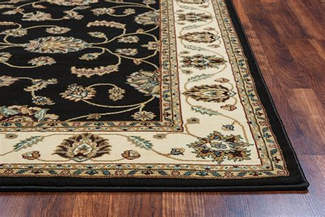 rug 10 x 10 chateau traditional border area rug in black ivory 7 10 quot x 10 10 quot