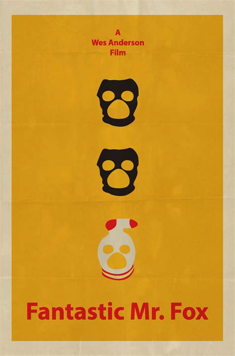 Poster Fox by Fantastic Mr Fox Poster On Behance