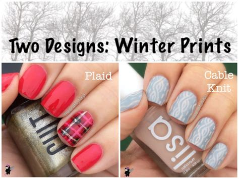 knitted nail art tutorial two designs plaid and cable knit nails the crafty ninja