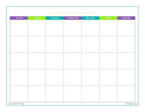 printable palooza and farewell blogger blank calendar