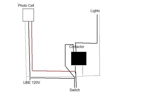 wiring diagram further photocell lighting contactor
