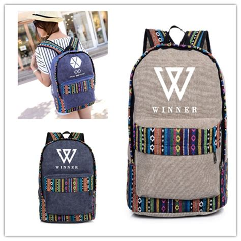 Tas K Pop Exo 1 kpop money winner with ethnic style shoulder korean version kpop exo k pop luggage student