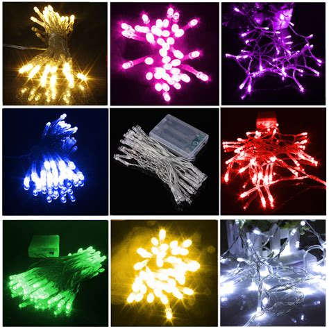 pure white fairy lights aa battery 10led 8 colors xmas wedding party string fairy