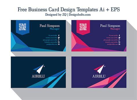 free ai business card templates business card template ai fragmat info
