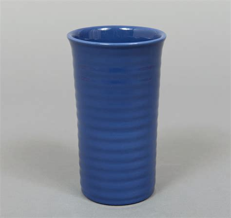 Bauer Vase by 7 Inch Ringware Vase Federal Blue Hickoree S