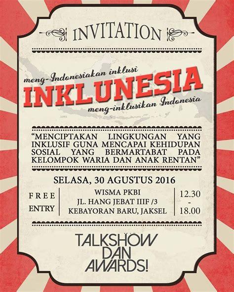 Keluarga Berencana Inklusif undangan talkshow inklunesia award 2016 pkbi