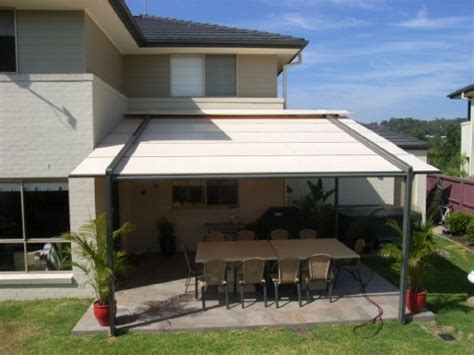 backyard awnings patio awnings permanent protection for your patio