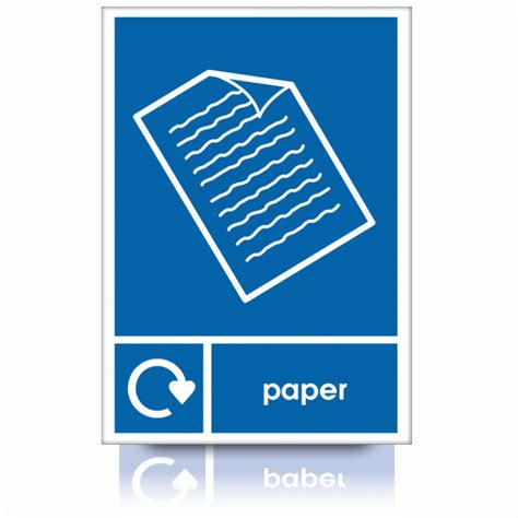 Recycle Paper - buy our recycle paper signs waste management labels
