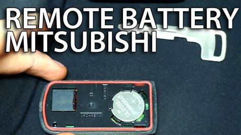 how to replace battery in mitsubishi key fob remote