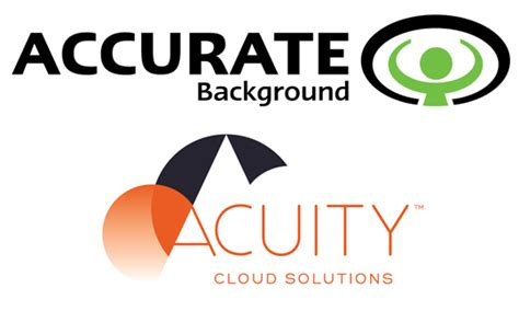 Accurate Background What Do They Check Acuity And Accurate Background Announce Partnership Acuity Cloud Solutions