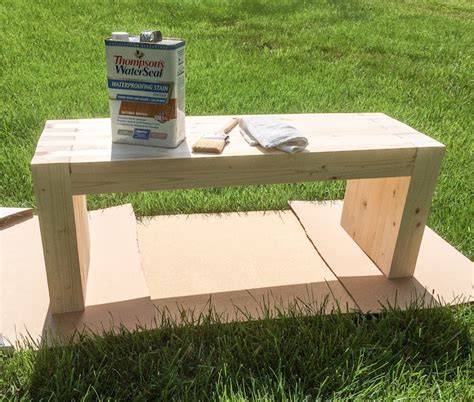 easy diy bench diy how to make outdoor bench quiet corner