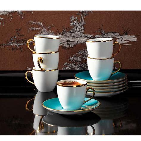 set of 4 selamlique turkish coffee cups turquoise