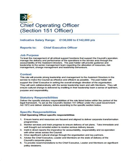 chief design engineer job description 21 job description templates free word pdf documents