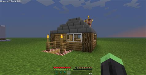 smallest minecraft house small village house minecraft project