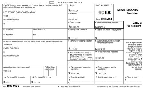 Performing 1099 Year End Reporting 1099 Form Template