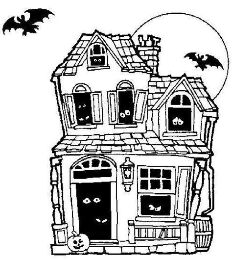 haunted house coloring page minding business