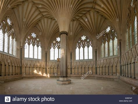 chapter house the chapter house chapterhouse of wells cathedral somerset uk stock photo royalty