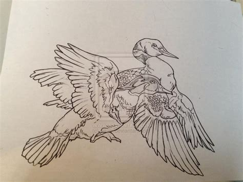 wood duck tattoo duck images designs