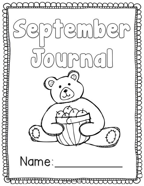 free printable kindergarten journal covers the write stuff year long writing journals for