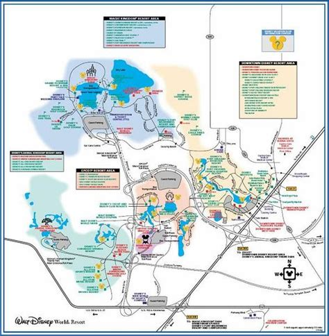 printable disney world maps links to printable pdf maps of walt disney world resort